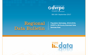DVRPC Population Estimates, 2010-2016, DVRPC's 28-County Extended Data Services Area