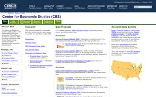 Census Bureau Center for Economic Studies (CES)