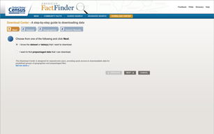 American Fact Finder,Guided Search